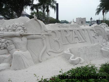 thishappyplaceblog.com, Brave sand sculpture in Epcot June 2012