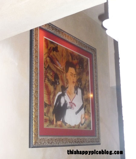 thishappyplaceblog.com, frida kahlo print in la hacienda in epcot