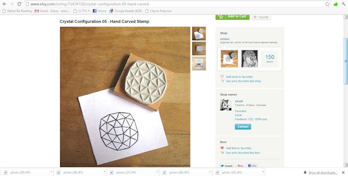 Handmade Rubber Stamp -- Etsy