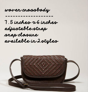 Woven Crossbody -- This Happy Place Blog