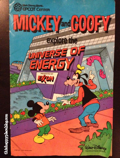 Epcot Center Mickey and Goofy explore the Universe of Energy - Cover (1985)