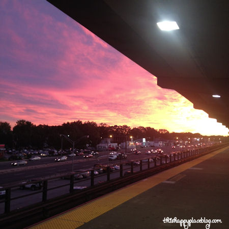 Long Island Railroad sunet