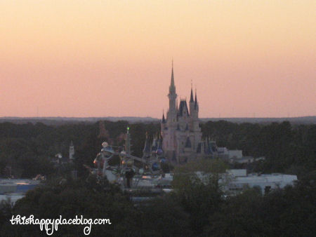 Magic Kingdom view from Bay Lake Tower