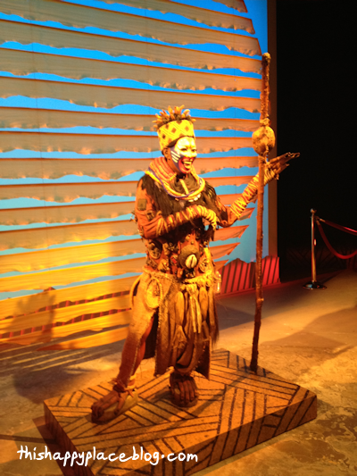 Lion King Musical Exhibit