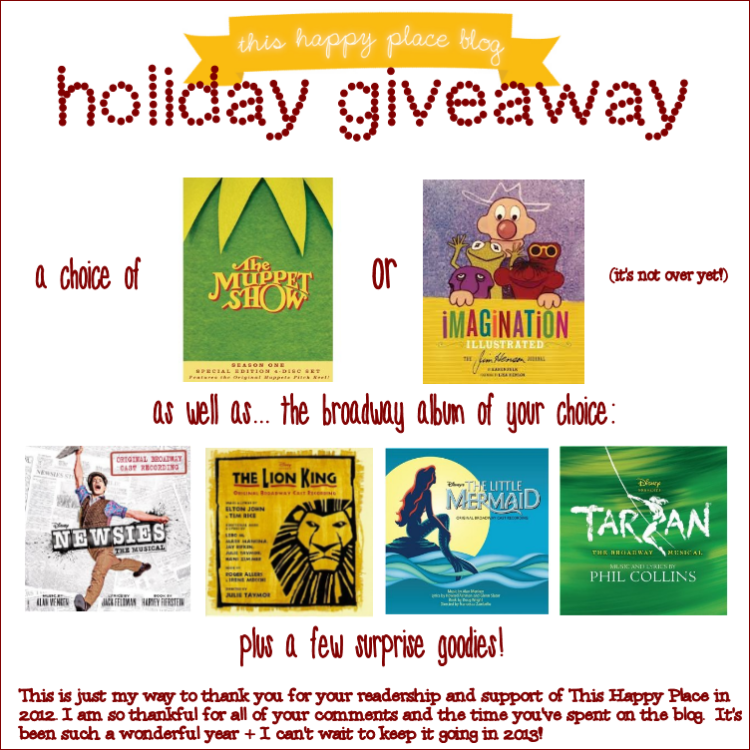 This Happy Place Blog Holiday Giveaway
