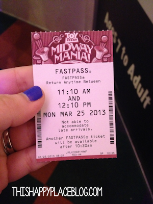 FastPass Toy Story Midway Mania