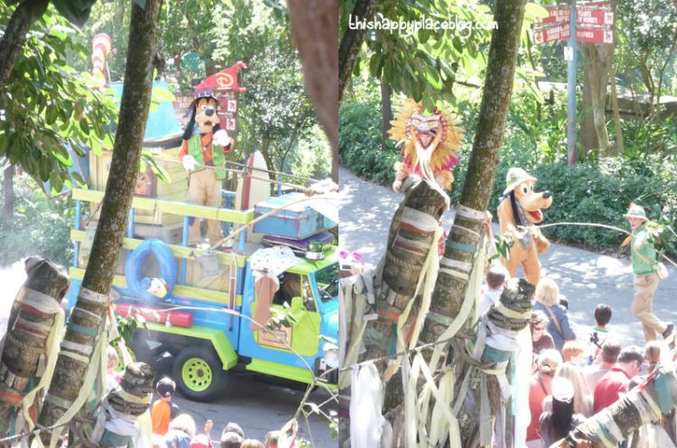 Jammin Jungle Parade from Yak and Yeti Restaurant in Animal Kingdom