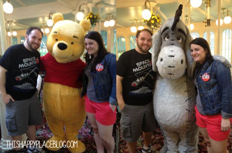 Crystal Palace Magic Kingdom Meeting Eeyore and Winnie the Pooh