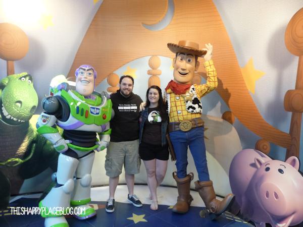 Meeting Buzz and Woody at Hollywood Studios