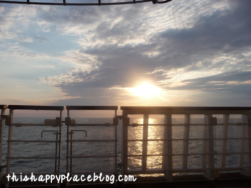 Disney Cruise Line Sunset from Magic