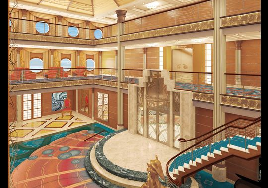 Disney Cruise Line Magic Refurb Lobby 2013