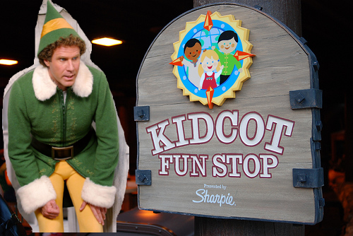 Buddy the Elf at KidCot Spot in Epcot for Christmas in July