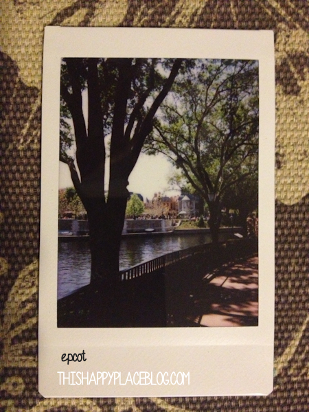 World Showcase Epcot Instax View