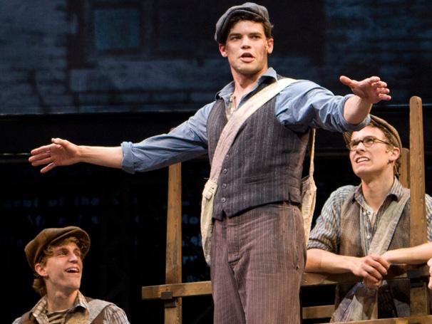 Jeremy Jordan in Newsies from Broadway