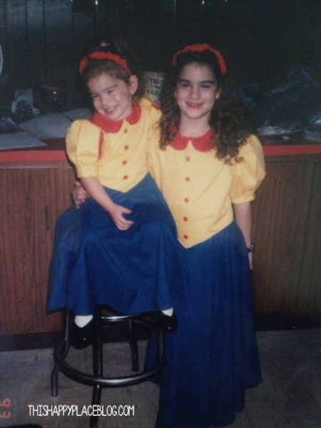 Halloween Sisters as Snow White Twins