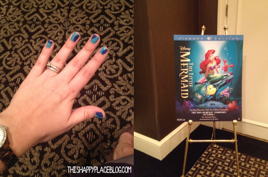 Little Mermaid PR Event Nails and Sign