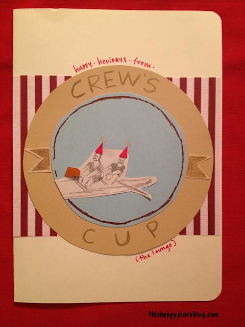 Crew's Cup Disney DIY Holiday Card