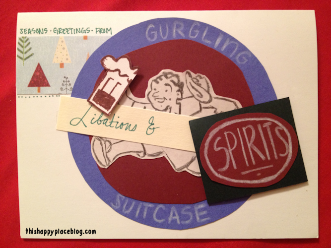 Gurgling Suitcase DIY Disney Holiday Card