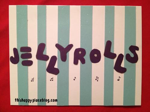 Jellyrolls Disney DIY Holiday Card