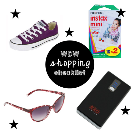 WDW Shopping Checklist November 2013