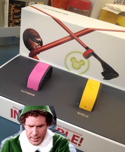 Buddy the Elf Says Hmm to Magic Bands