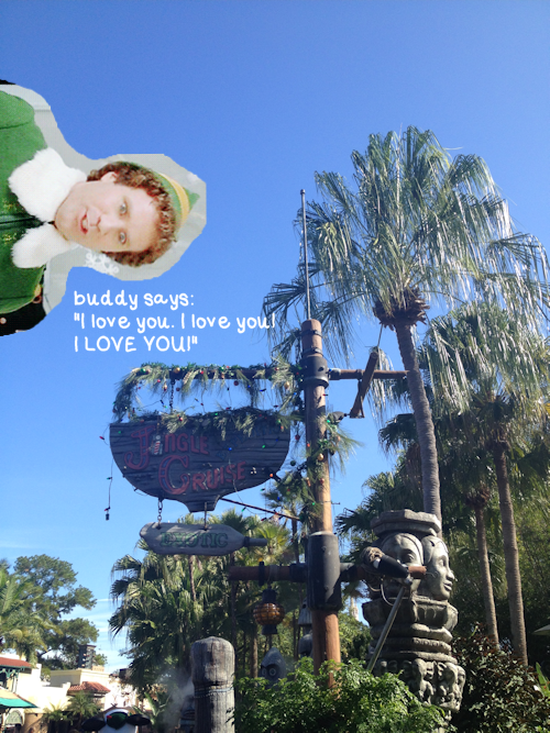 Buddy the Elf Says Yes to Jingle Cruise in Walt Disney World