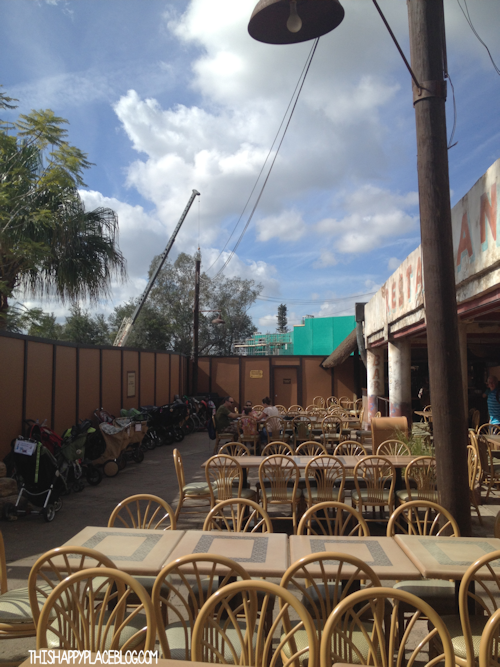 Construction in Harambe at Animal Kingdom Park in November 2013