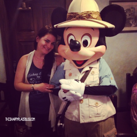 Mickey and I at Tusker House Breakfast November 20134