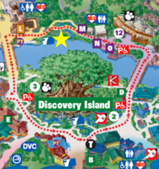 Rest Stop in Animal Kingdom on the official map