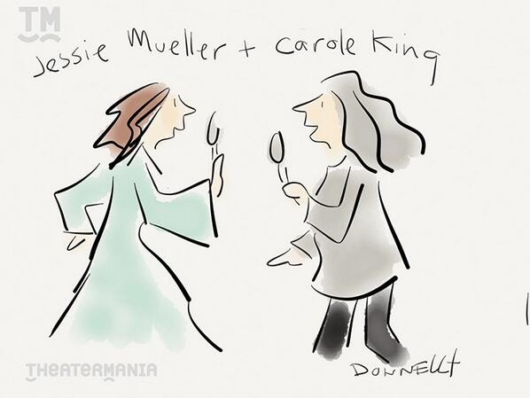 Carole King and Jessie Mueller Drawing