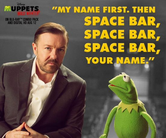 Constantine and Ricky Gervais Muppets Most Wanted