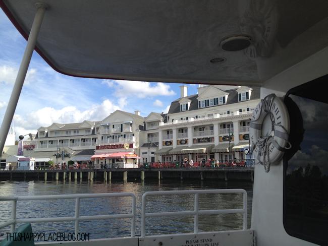 Friendship Boats at the Boardwalk Resort in WDW