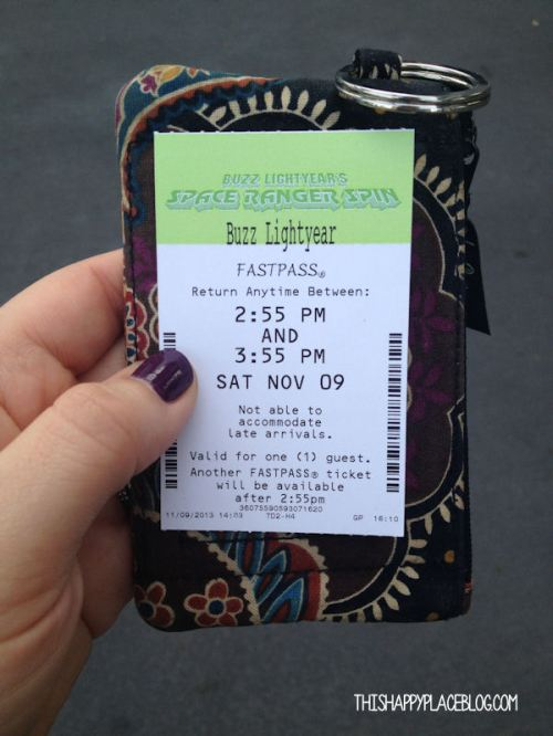 Fast Pass from November 2014 Walt Disney World
