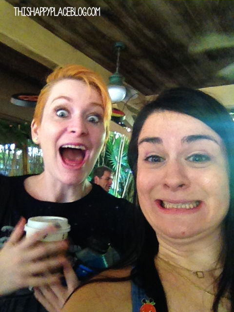 We were pretty darn excited for the Jingle Cruise. We are now co-presidents of its Fan Club,.