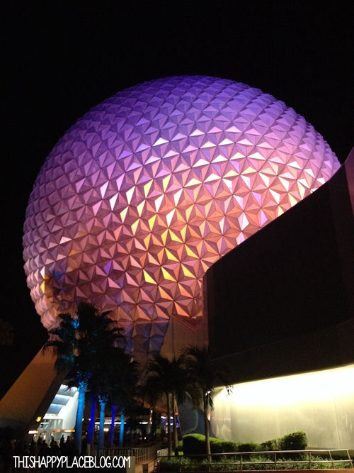 Spaceship Earth at Night Wine & Dine Finish Line Party