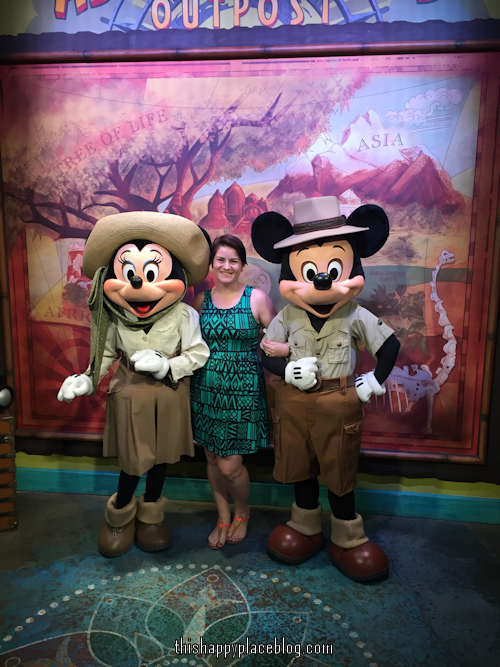 Estelle and Mickey and Minnie in Animal Kingdom Nov 2014